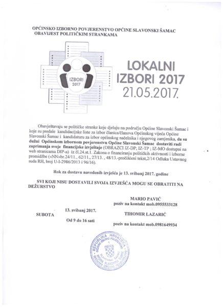 OBAVIJEST OIP-2017